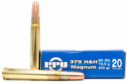 Prvi Partizan Ammunition - 375 H&H Mag - 300 Grain Soft Point - 80 Rounds W/ Free Ammo Can