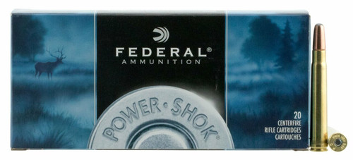 Federal Power-Shok Ammunition - 375 H&H Mag - 270 Grain Soft Point - 40 Rounds W/ Free Ammo Can