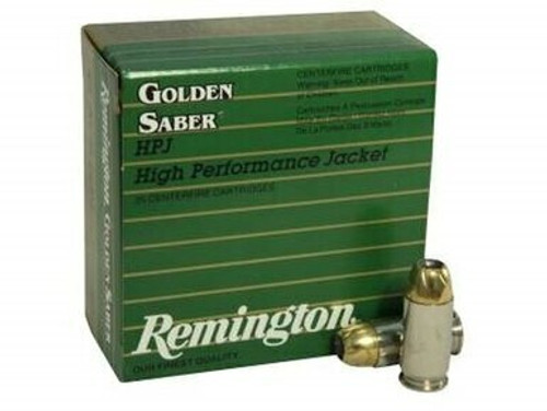 Remington Golden Saber Ammunition - 45 Auto +P - 185 Grain Jacketed Hollow Point  - 50 Rounds W/ Ammo Can - Brass Case