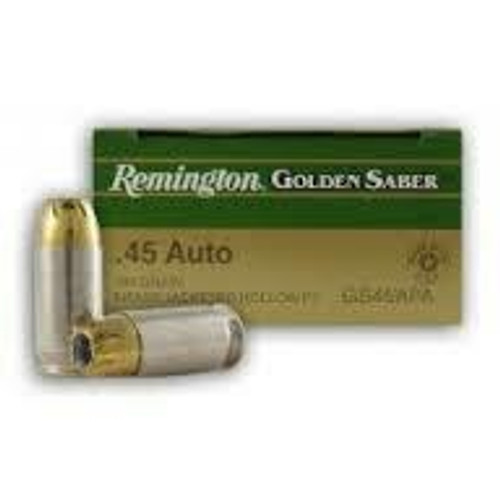 Remington Golden Saber Ammunition - 45 Auto - 185 Grain Jacketed Hollow Point - 50 Rounds W/ Free Ammo Can