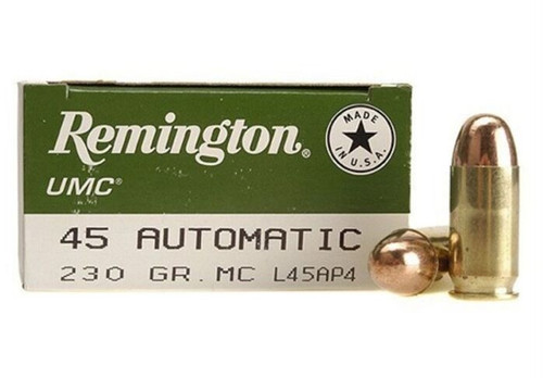Remington Ammunition - 45 Auto - 230 Grain Full Metal Jacket - 100 Rounds W/ Free Ammo Can