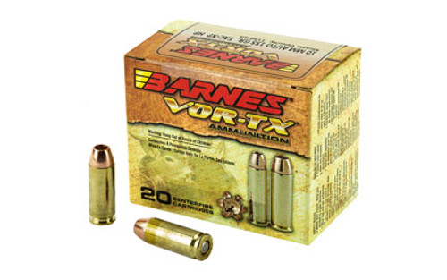 Barnes Vor-TX Ammunition - 10 MM Auto - 155 Grain TAC-XP Hollow Point - 40 Rounds W/ Free Ammo Can