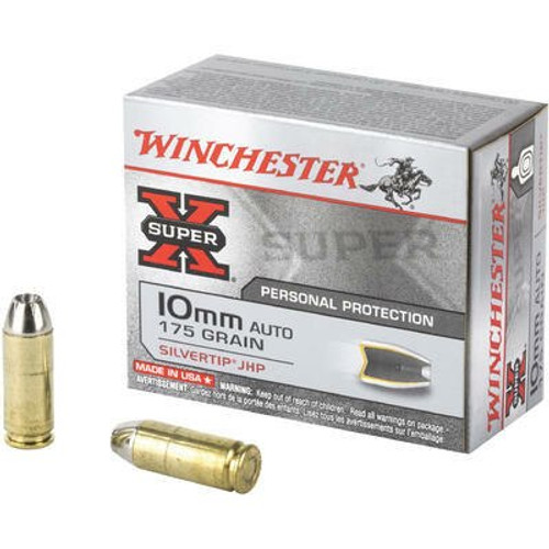 Winchester Super-X Ammunition - 10 MM Auto - 175 Grain Silvertip Hollow Point - 40 Rounds W/ Free Ammo Can
