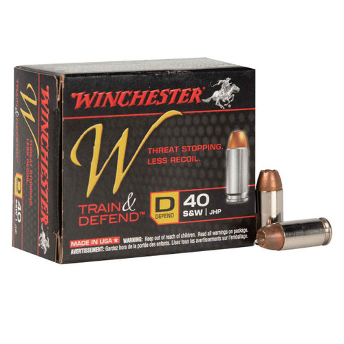 Winchester Ammunition - 40 S&W - 180 Grain Jacketed Hollow Point - 40 Rounds W/ Free Ammo Can