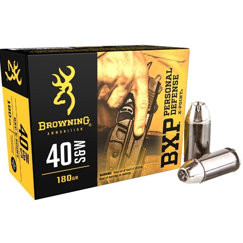 Browning Ammunition - 40 S&W - 180 Grain BXP Hollow Point - 40 Rounds W/ Free Ammo Can