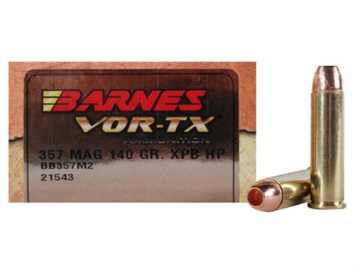 Barnes Vor-TX Ammunition - 357 Magnum - 140 Grain XBP Hollow point - 40 Rounds W/ Free Ammo Can
