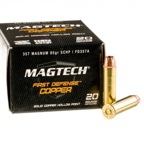 MagTech Ammunition - 357 Magnum - 95 Grain Solid Copper Hollow Point - 40 Rounds W/ Free Ammo Can