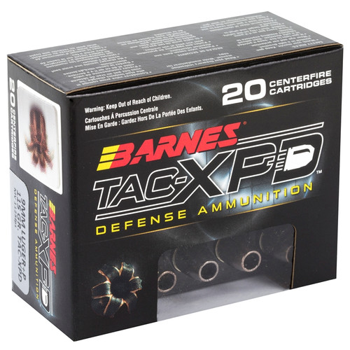 Barnes Defense Ammunition - 9 MM +P - 115 Grain TAC-XP Hollow Point - 40 Rounds W/ Free Ammo Can