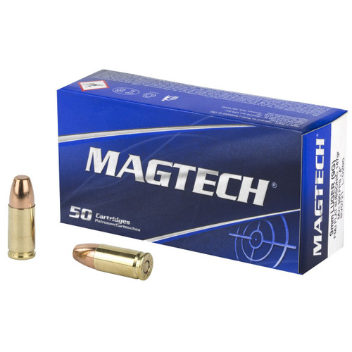 Magtech Ammunition - 9 MM - 147 Grain Full Metal Jacket - 100 Rounds W/ Free Ammo Can