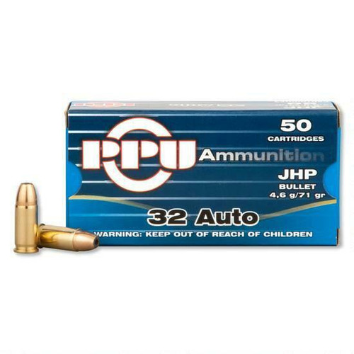 Prvi Partizan Ammunition - 32 Auto - 71 Grain Jacketed Hollow Point - 100 Rounds W/ Free Ammo Can