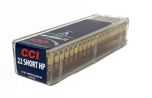 CCI Ammunition - 22 Short - 27 Grain Copper Plated Hollow Point - 200 Rounds W/ Free Ammo Can