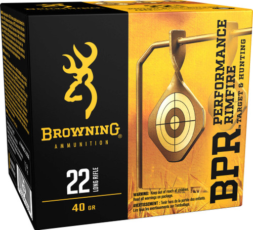 Browning Ammunition - 22 Long Rifle - 40 Grain Lead Round Nose - 1600 Rounds - Case
