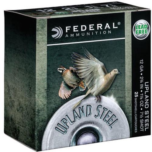 "Federal Upland Ammunition - 12 GA - 2 3/4"" - #7.5 Steel Shot - 250 Rounds - Case"