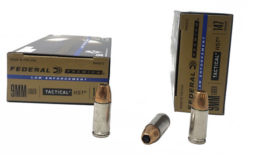 Federal Premium Ammunition - 9 MM Luger - 147 Grain HST Hollow Point - 100 Rounds W/ Free Ammo Can