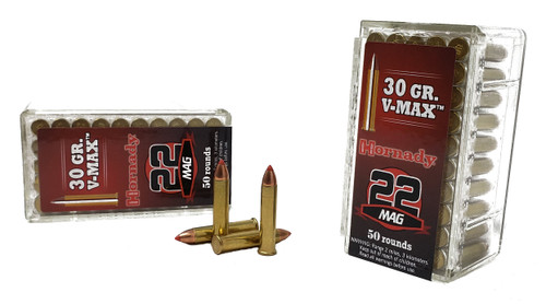 Hornady Varmint Express Ammunition - 22 Winchester Magnum - 30 Grain V-Max - 500 Rounds W/ Free Ammo Can