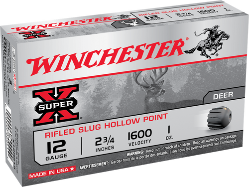 "Winchester Super-X Ammunition - 12 Gauge  -  2 3/4"" - 1 Oz Slug - 30 Rounds W/ Free Ammo Can"