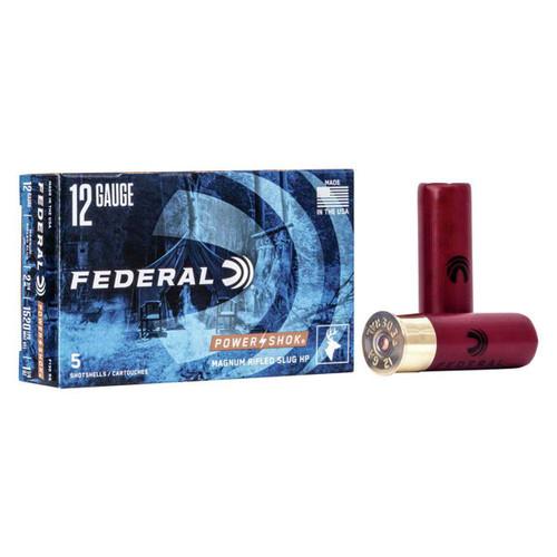 "Federal Power-Shok Ammunition - 12 Gauge - 2 3/4"" - 1 1/4 oz. Rifled Slug - 50 Rounds"