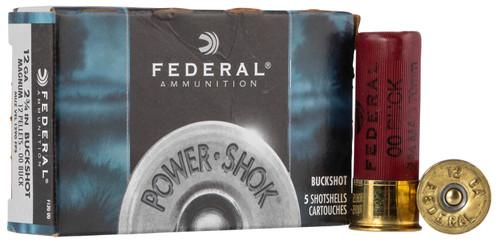 """Federal Ammunition - 12 Ga - 2 3/4""""- 00 Buck 12 Pellets - 50 Rounds"""