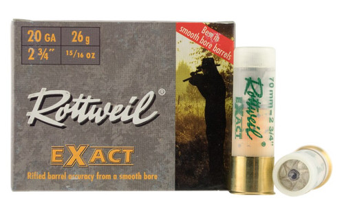 """Rottweil Exact Ammunition - 20 Gauge  - 2 3/4"""" - Lead 15/16  - 75 Rounds W/ Free Ammo Can"""