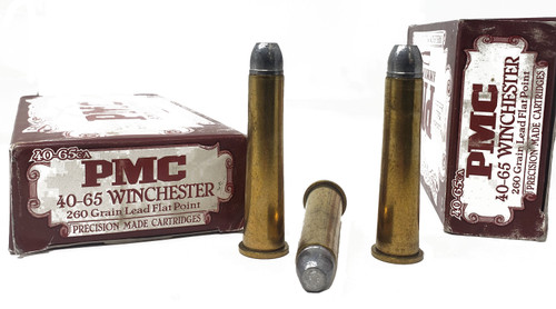 PMC Ammunition - 40-65 Winchester - 260 Grain Lead Flat Point - 100 Rounds W/ Free Ammo Can