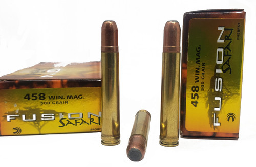 Federal Fusion Safari Ammunition - 458 Win Mag - 500 Grain Fusion Soft Point - 60 Rounds W/ Free Ammo Can