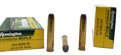 Remington Express Ammunition - 444 Marlin - 240 Grain Soft Point - 80 Rounds W/ Free Ammo Can