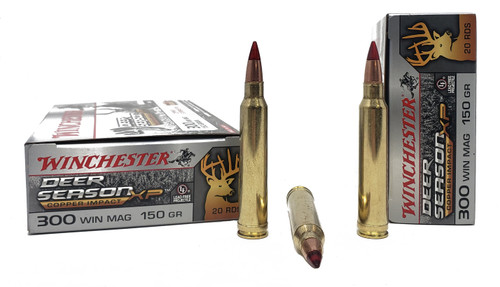Winchester Deer Season Ammunition  - 300 Win Mag - 150 Grain Copper Extreme Point - 40 Rounds W/ Free Ammo Can