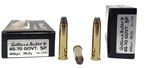 Sellier & Bellot Ammunition - 45-70 Government - 405 Grain Soft Point - 20 Rounds W/ Free Ammo Can
