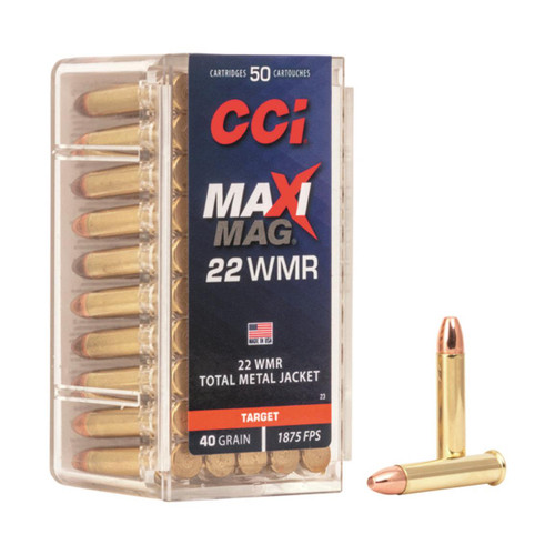 CCI Ammunition - 22 Winchester Magnum - 40 Grain Total Metal Jacket - 100 Rounds W/ Free Ammo Can