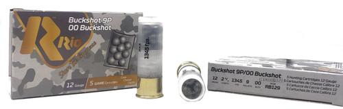 "Rio Buckshot Ammunition - 12 ga - 2 3/4"" - 9 Pellets - 00 Buck - 25 Rounds W/ Free Ammo Can"