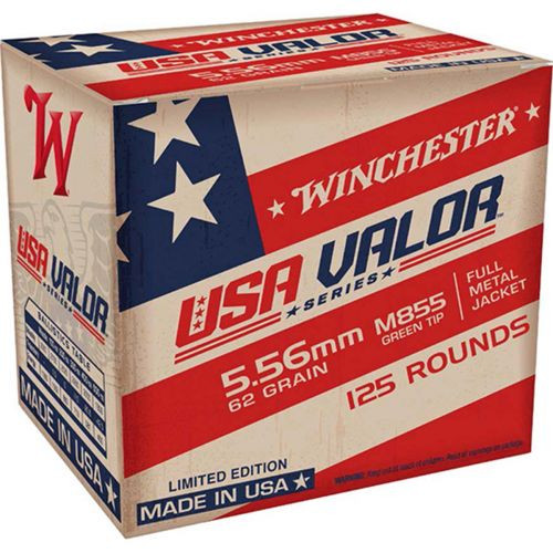 Winchester Valor Ammunition - 5.56x45 MM - 62 Grain M855 Full Metal Jacket - 250 Rounds W/ Free Ammo Can