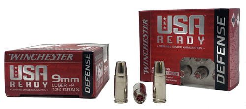 Winchester Ready Ammunition - 9 MM Luger +P - 124 Grain Hollow Point - 40 Rounds W/ Free Ammo Can