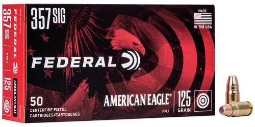 Federal American Eagle Ammunition - 357 Sig - 125 Grain Full Metal Jacket - 100 Rounds