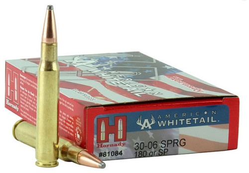 Hornady American Whitetail Ammunition - 30-06 Springfield - 180 Grain Soft Point - 40 Rounds