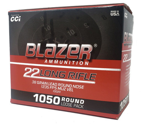 CCI Blazer Ammunition - 22 Long Rifle - 38 Grain Lead Round Nose - 1050 Rounds W/ Free Ammo Can