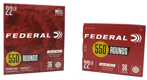 Federal Ammunition - 22 Long Rifle - 36 Grain Copper Plated Hollow Point - 1100 Rounds W/ Free Ammo Can