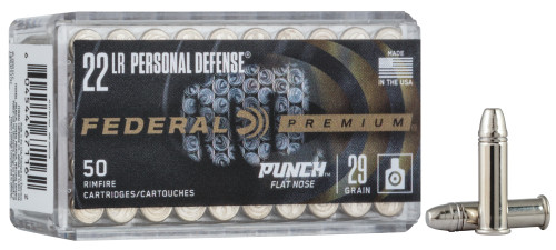 Federal Premium Ammunition - 22 Long Rifle - 29 Grain Punch Flat Nose - 500 Rounds W/ Free Ammo Can