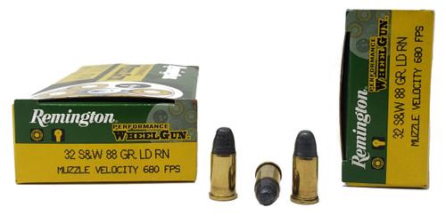 Remington Performance WheelGun Ammunition - 32 S&W - 88 Grain Lead Round Nose - 100 Rounds W/ Free Ammo Can