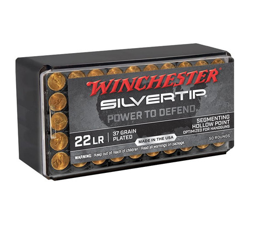 Winchester Silver Tip Ammunition - 22 Long Rifle - 37 Grain Segmenting Hollow Point - 1000 Rounds