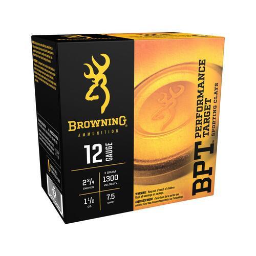 """Browning Ammunition - 12 Gauge - 2 3/4"""" - 1 1/8 Oz. - 7.5 Shot - 250 Rounds - Case"""