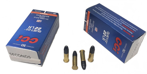CCI Quite Ammunition - 22 Long Rifle - 40 Grain Lead Round Nose - 500 Rounds W/ Free Ammo Can - FACTORY SECONDS