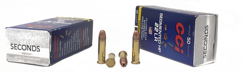 CCI Ammunition - 22 Long Rifle - 32 Grain Segmenting Hollow Point - 500 Rounds W/ Free Ammo Can - FACTORY SECONDS