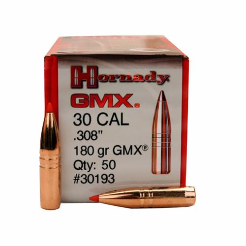 "Hornady Bullets - .308"" (30 Cal) - 180 Grain GMX (Lead Free) - 50 Projectiles"