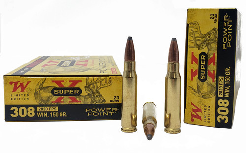 """Winchester Super-X """"100 Year Anniversary"""" - 308 Winchester - 150 Grain Power Point - 20 Rounds"""