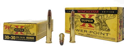 "Winchester Super-X ""100 Year Anniversary"" - 30-30 Winchester - 150 Grain Power Point - 20 Rounds - Brass Case"