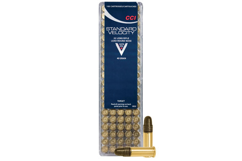 CCI Standard Velocity Ammunition - 22 Long Rifle - 40 Grain Lead Round Nose - 1000 Rounds W/ Free Ammo Can