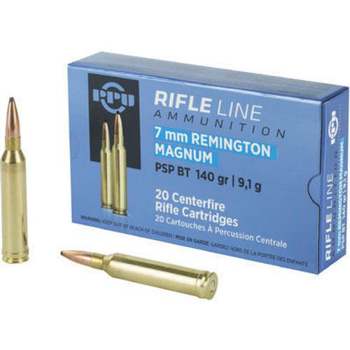 Prvi Partizan Ammunition - 7 MM Remington Magnum - 140 Grain Soft Point - 20 Rounds