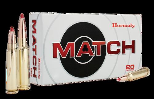 Hornady Match Ammunition - 308 Winchester - 168 Grain ELD Match - 20 Rounds - Brass Case