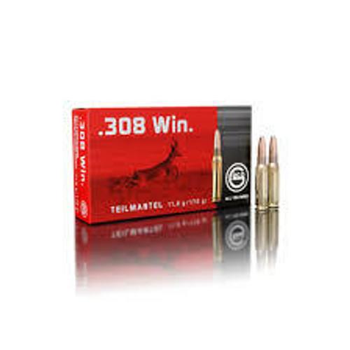 Geco Ammunition - 308 Winchester - 170 Grain Soft Point - 20 Rounds - Brass Case