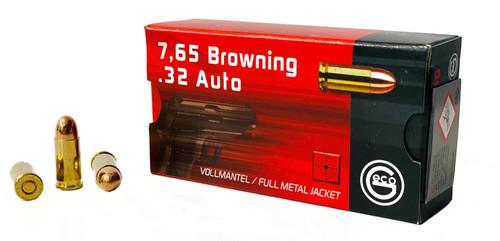 Geco - 32 Auto 73 Grain Full Metal Jacket - 1000 Rounds - Brass Case